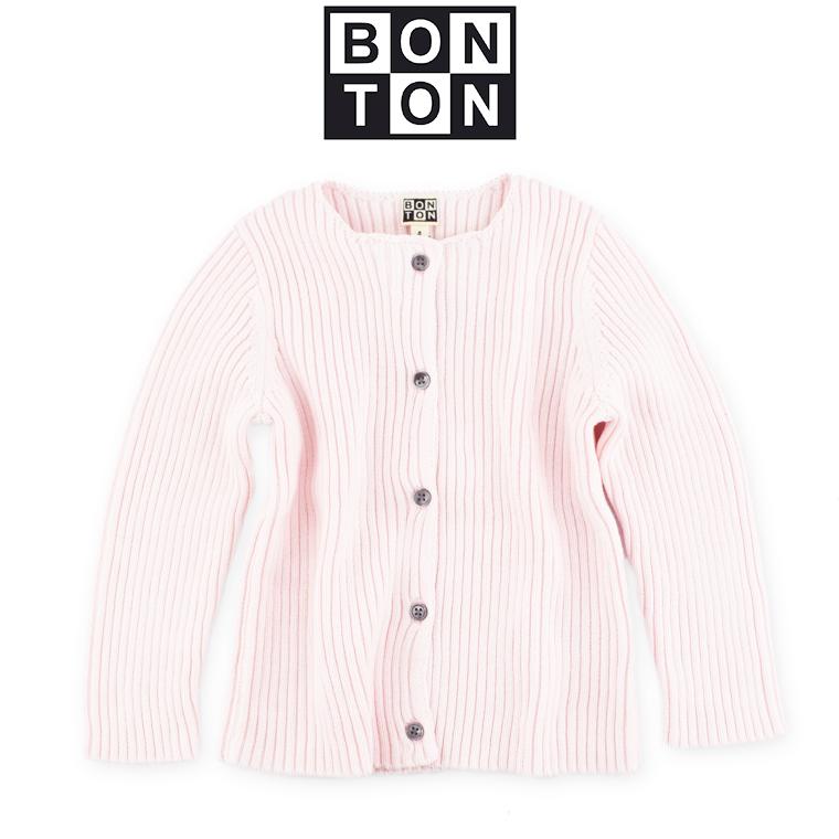 BONTON【ボントン】ベビー リブ カーディガン 18M【18ヶ月】~ 2A【2歳】