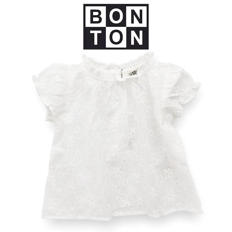 BONTON【ボントン】キッズ カットワークレース レース ブラウス 3A【3歳】~ 6A【6歳】 BONTON キッズ 刺繍ブラウス bonton ボントン 2019SS フランス 子供服 ベビー キッズ
