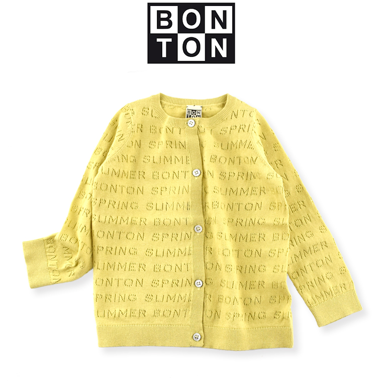BONTON【ボントン】キッズ 透かし編みカーディガン 8A(8歳)〜 12A(12歳) BONTON カーディガン bonton ボントン