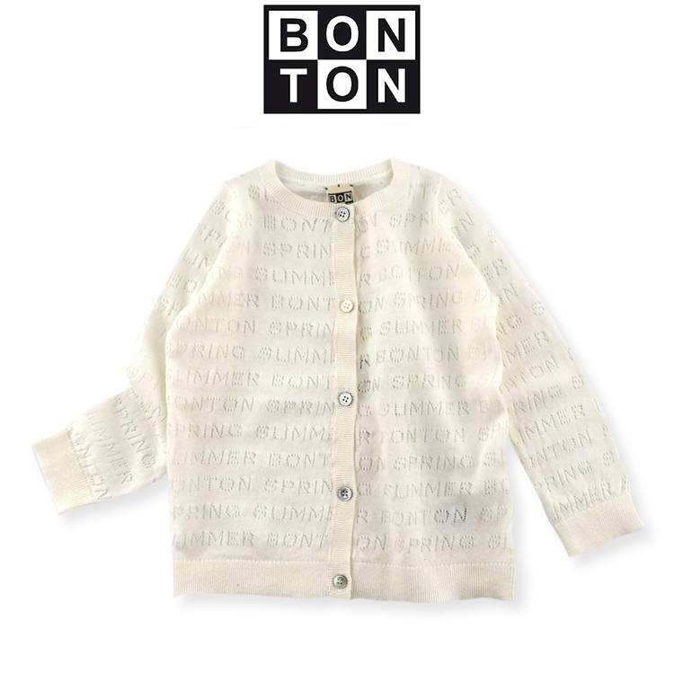 BONTON【ボントン】キッズ 透かし編みカーディガン 4A(4歳)〜 6A(6歳) BONTON ワンピ bonton ボントン