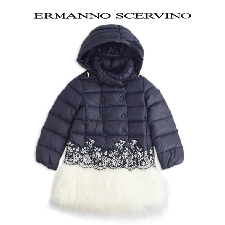 ERMANNO SCERVINO junior [エルマンノ シェルビーノ ジュニア]ダウンコート10A【10歳】 12A【12歳】 14A【14歳】子ども scervino