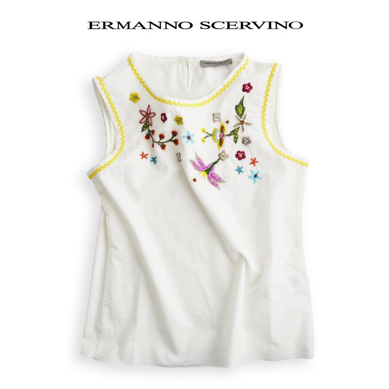 ERMANNO SCERVINO junior [エルマンノ シェルビーノ ジュニア] ブラウス 8A【8歳】子ども scervino トップス