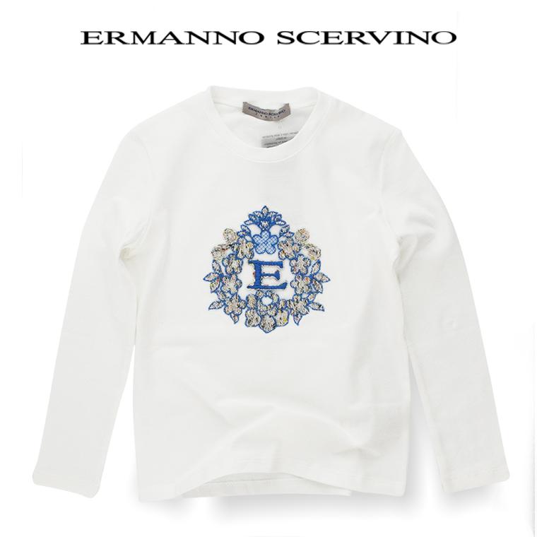 ERMANNO SCERVINO junior 【エルマンノ シェルビーノ ジュニア】カットソー 10A【10歳】 12A【12歳】 14A【14歳】 scervino