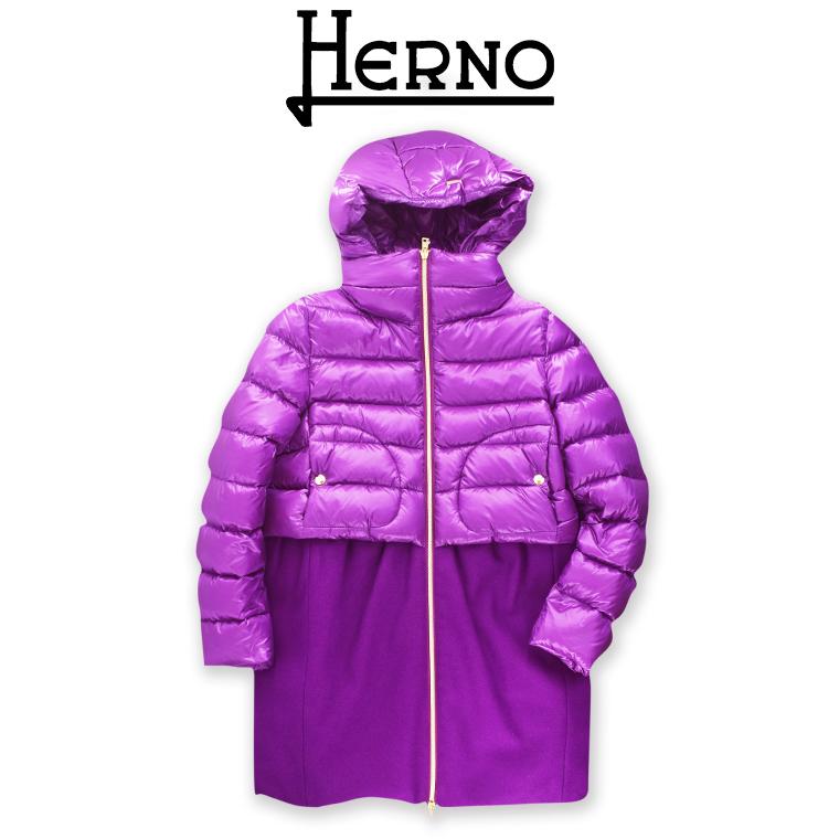 【2019FW】HERNO KIDS(ヘルノ キッズ) コンビネーション ダウン コート 10A【10歳】12A 【12歳】14A【14歳】HERNO こども ヘルノ 子供
