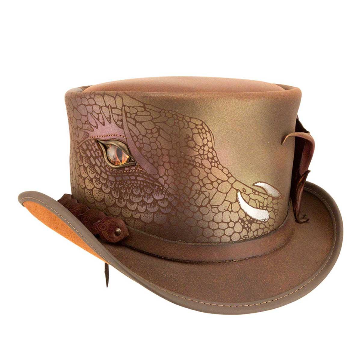 スチームパンク 帽子 HEAD'N HOME Doraco / BROWN シルクハット トップハット