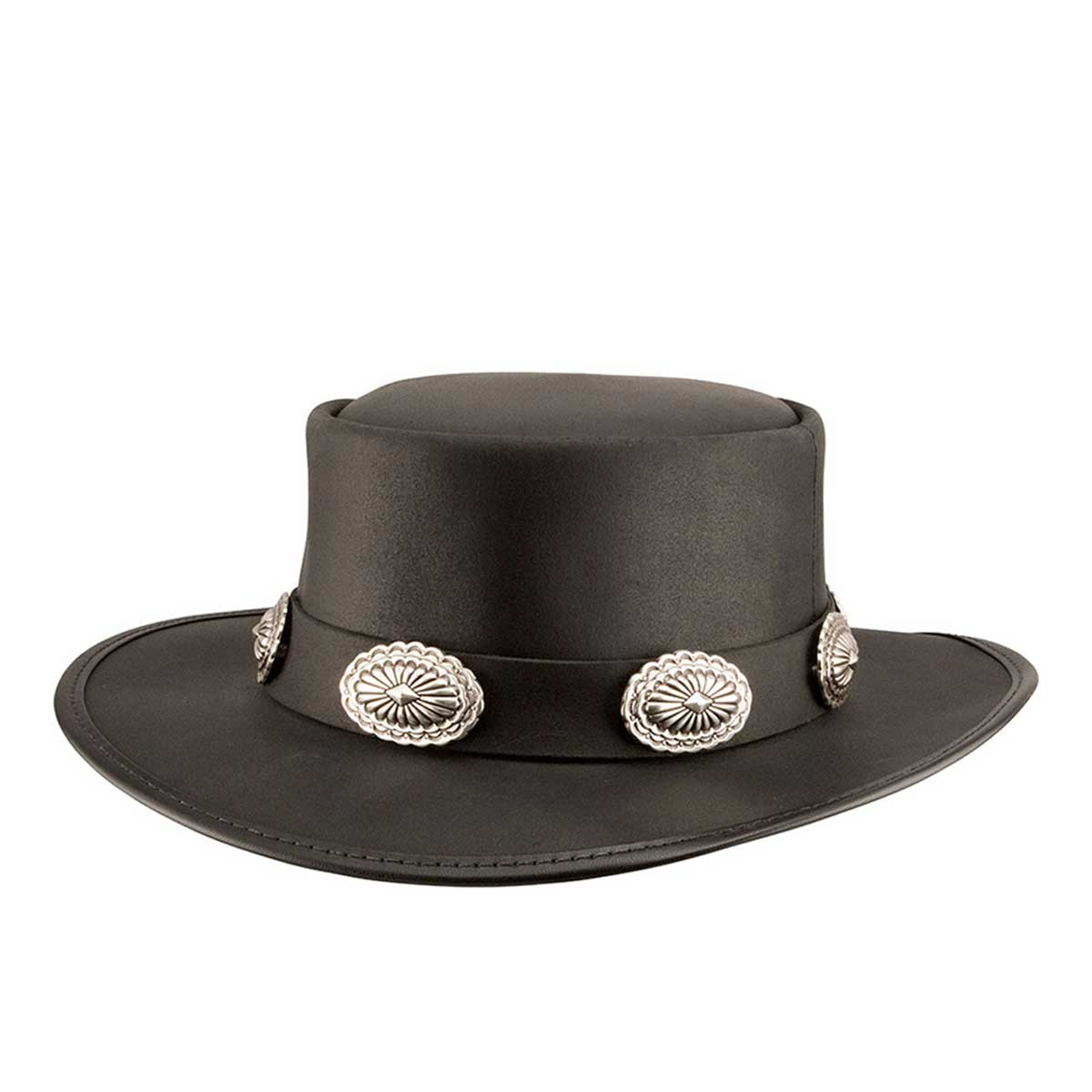HEAD'N HOME Hats / Silverado Big Concho Band BLACK