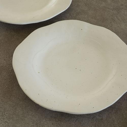 こひき 白化粧 プレート お皿 和食器 白の器 Kohiki 粉引 28cm ディナー皿 大皿 訳あり品送料無料 販売実績No.1 おしゃれ パスタ皿 白 かわいい