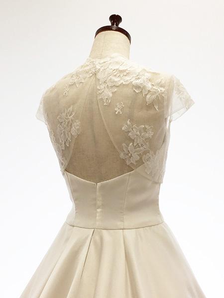 791a233fd540b ボレロウェディングドレスレースボレロ(後ろ開き)花嫁ウエディングウエディングブライダルウエディングドレス二次会 ...