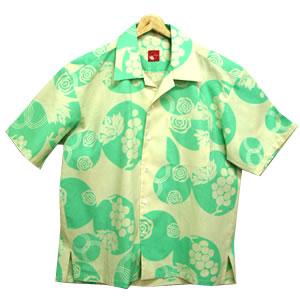 【大きいサイズ】【送料無料】ゆかたのメンズアロハシャツ LLサイズ