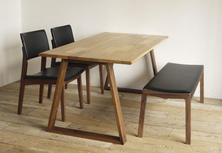 ダイニング4点セットkitoki(キトキ/きとき)makanai table(まかないテーブル)ダイニングテーブル+TOPOチェア+TOPOベンチ【送料無料】【受注生産】【納期:約70日】※ご注文後、当店より正しい金額をメールします。