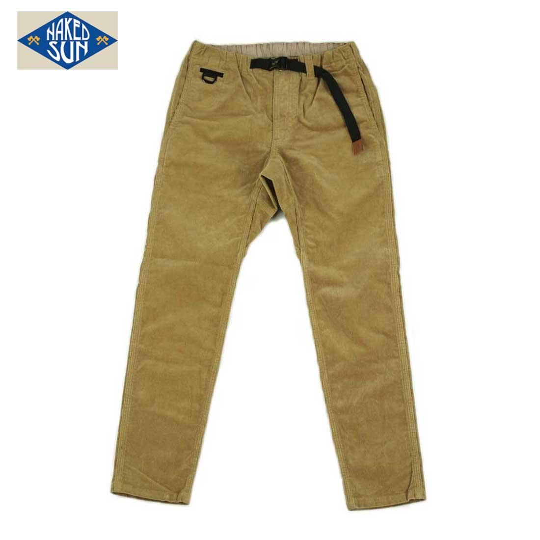NAKED SUN ネイキッドサン FLEXIBLE EDGED PANTS (CORDUROY COYOTE) 017007006