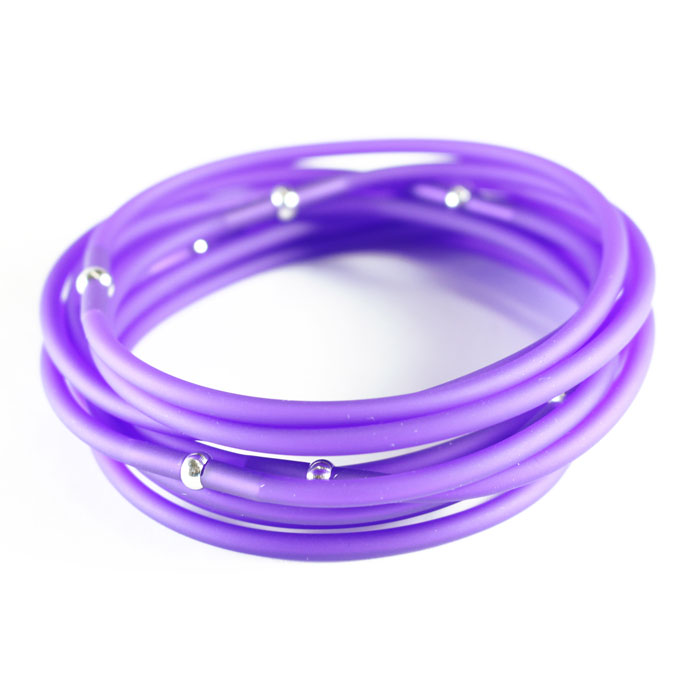 マテリアデザイン ブレスレット イタリア製 高級 【tutti frutti】 パープル Purple レディース フォーマル おしゃれ ギフト 送料無料