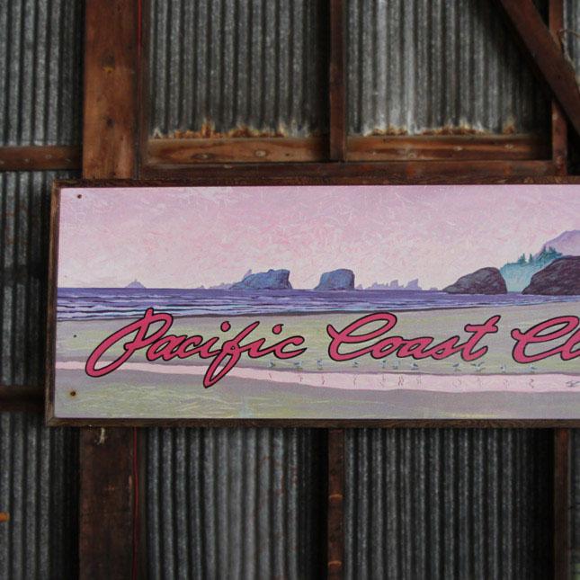 【送料無料】【アメリカンアンティーク】 old wooden clothing store sign -古い手描きの看板- 【中古】