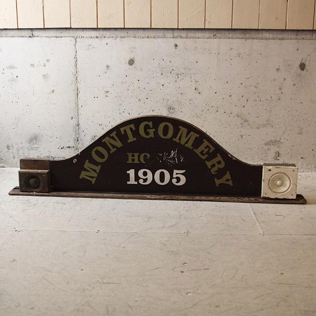 【送料無料】【アメリカンアンティーク】 antique wooden arach sign - 古いアーチ型の木製看板 - 【中古】送料別