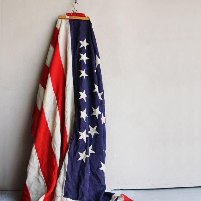 【送料無料】45 STAR FLAG OF UNITED STATES -古い星条旗- 【アメリカンアンティーク】【中古】