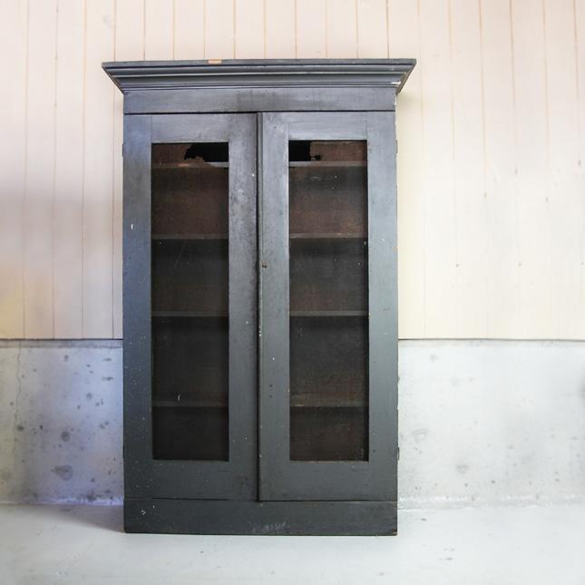 【アメリカンアンティーク】 early 1900s wooden shelf 古い木製の陳列棚 【中古】