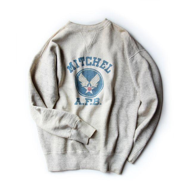 【送料無料】【アメリカ古着】【中古】 50's MITCHEL AIR FORCE BASE スウェットシャツ