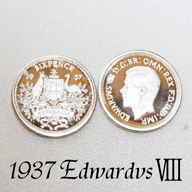 限定2 000枚 王冠をかけた恋 幻の6ペンスコイン 1937年 エドワード8世 プルーフ 大規模セール Proof .925 スターリング 銀貨 極美品 通販 ウェディング 結婚式 UNC シックスペンス ハッピー シルバー 未流通 オーストラリア