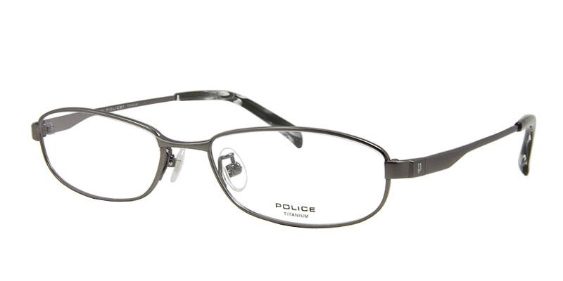 POLICE(警察)度從屬于的眼鏡安排V8287J-SR1(金屬)10P23Sep15