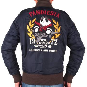 【PANDIESTA JAPANパンディエスタ ジャパン】L2-Aジャケット〔AIR FORCE パンダ 総刺繍〕598858、黒・ネイビー・カモフラ、M~XXL、アメカジ・ミリタリー、2018年秋冬