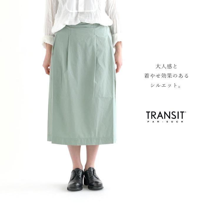 <ウインターセール>TRANSIT PAR SUCH トランジットパーサッチコットンボクシースカート《メール便不可》【AP】(91TT-H-O-242)(2019093)0.3