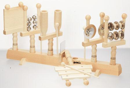 【在宅】ハンドベル 打楽器 子ども用 楽器 おもちゃ 玩具 木製 本格 知育 音楽 教育 出産祝い 入園祝い プレゼント 【ゴールドン Goldon ハンドパーカッションセット】