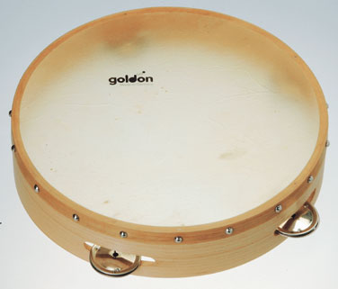 goldonタンバリン/L【ミュージック・フォ・リビング/MUSIC FOR LIVING】【知育玩具・知育楽器・楽器玩具】