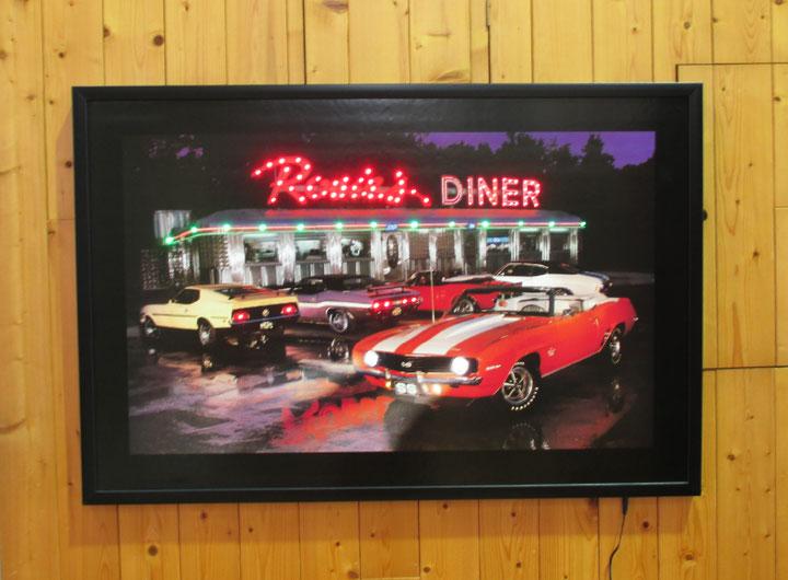 【Rosie's DINER】LED ネオンピクチャー『L111』ダイナー アメリカ雑貨 アメ雑 アメリカン雑貨 ピクチャーフレーム NEON PICTURE ディズプレイ