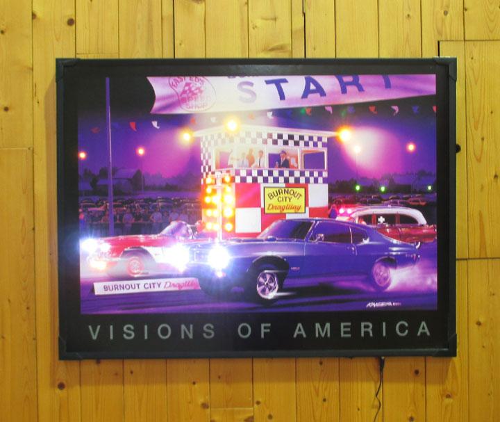 LED ネオンピクチャー 【VISIONS OF AMERICA】L118 カーレース・アメリカ雑貨・アメ雑・アメリカン雑貨・ピクチャーフレーム・NEON PICTURE
