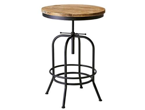 送料無料 ヴィンテージ風 バーテーブル INDUSTRIALシリーズ おしゃれ 丸テーブル