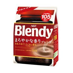 まろやかで豊かなコクと香り オーバーのアイテム取扱☆ 送料無料 AGF ブレンディ インスタントコーヒー まろやかな香りブレンド DSG 詰替用 TY-J-M 210g 1着でも送料無料 T8 1袋