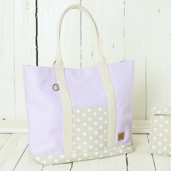 8c824bc4a Camera bag with inner case ♪ 11 fashionable No. canvas camera tot bag /  pastel purple polka dots