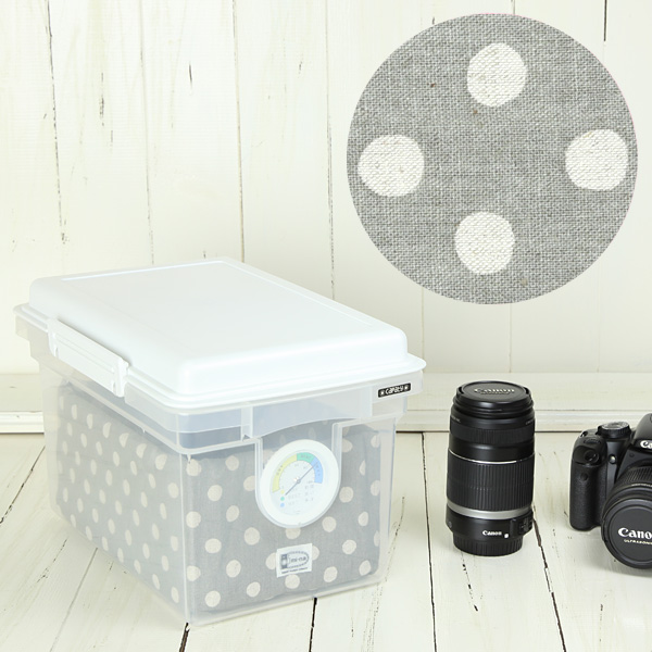 With the inner case dry box 8 L / grey beige dots