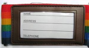 Suitcase belt «Y3033» plain & Rainbow handle * item 1 pieces per 1 piece only