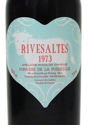 1973年 リヴザルト / ドメーヌ・フォセイユ・ブルーハートラベル(うし年)[フランス/赤ワイン/甘口/フルボディ/750ml/1本]