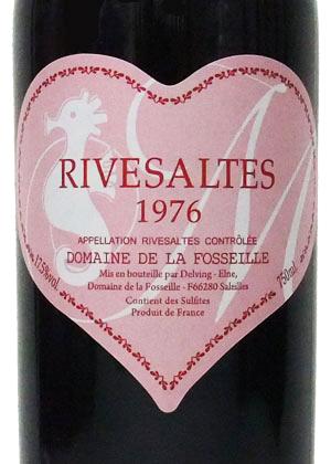 1976年 リヴザルト / ドメーヌ・フォセイユ・ピンクハートラベル(たつ年)[フランス/赤ワイン/甘口/フルボディ/750ml/1本]
