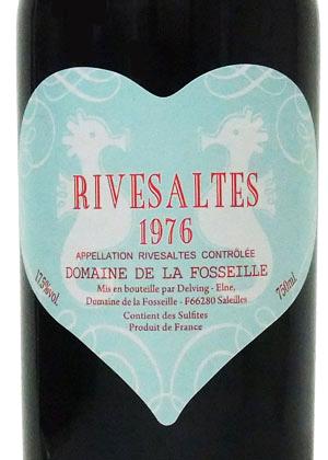 1976年 リヴザルト / ドメーヌ・フォセイユ・ブルーハートラベル(たつ年)[フランス/赤ワイン/甘口/フルボディ/750ml/1本]