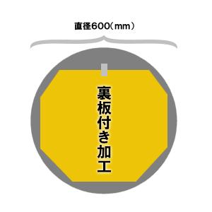 サークル直径600(mm)サイズミラー裏板付き加工