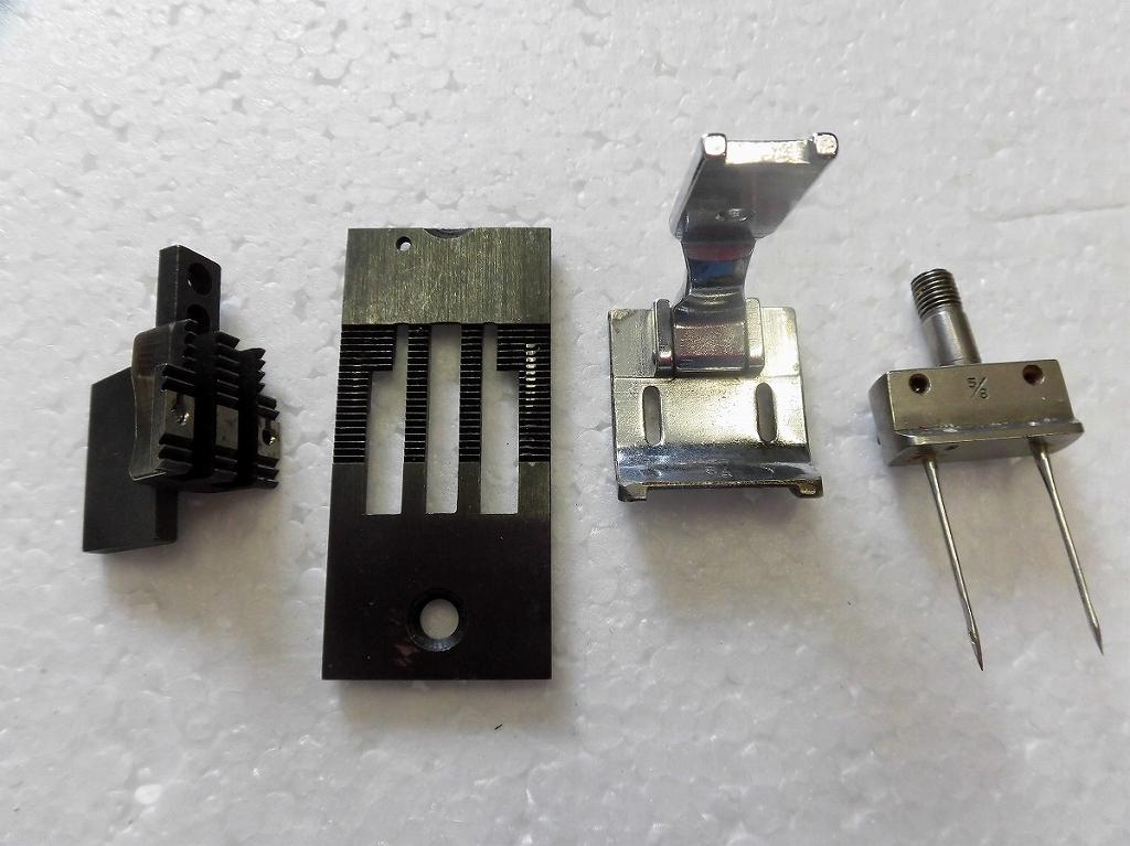 中古 安心の定価販売 2本針本縫い針送りミシン ゲージセット 供え 8インチ 5