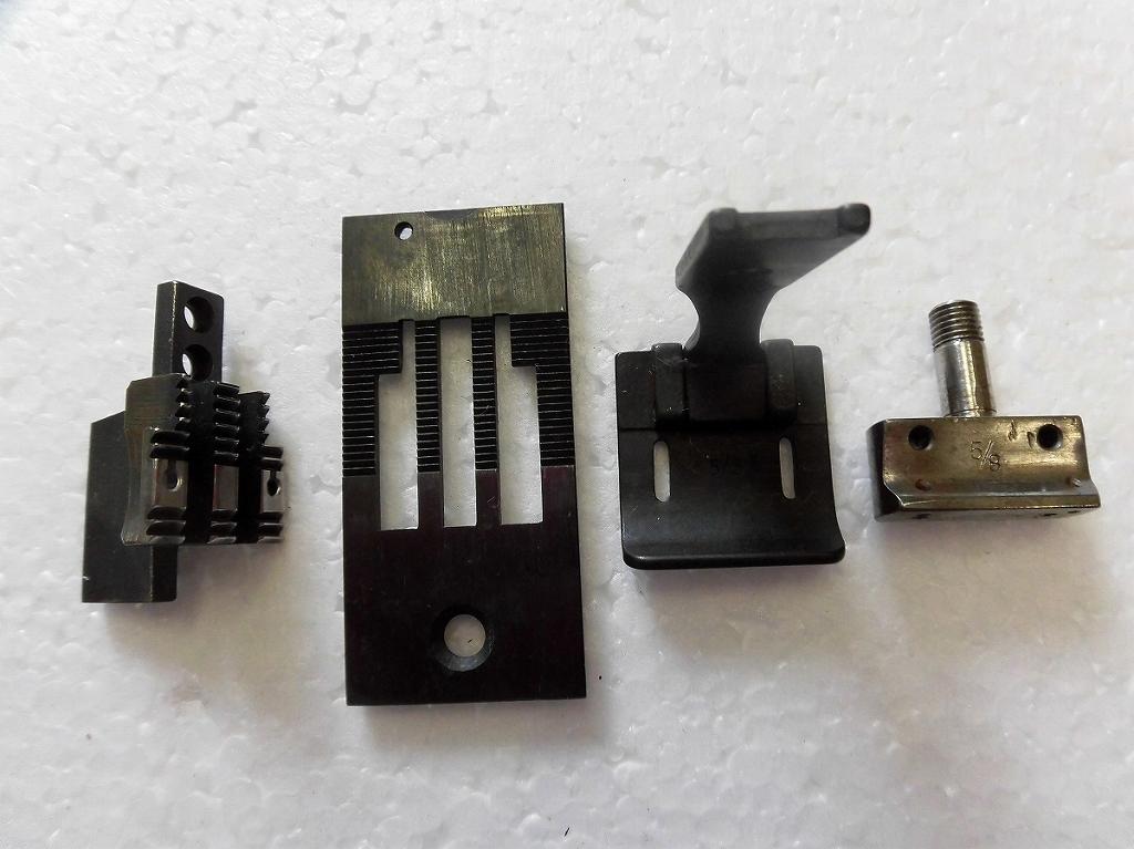 中古 超定番 2本針本縫い針送りミシン ゲージセット お洒落 5 8インチ