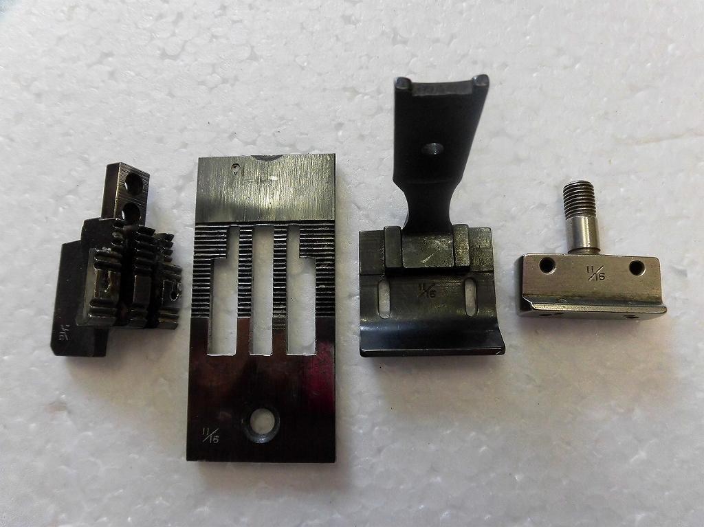 【中古】2本針本縫い針送りミシン ゲージセット 11/16インチ