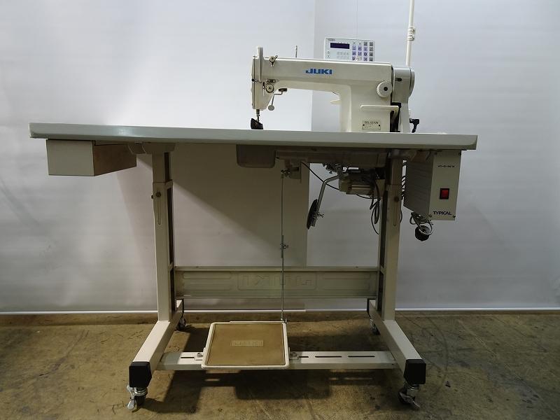 【中古】ジューキ JUKIミシン 1本針本縫い自動糸切ミシン DDL-5570N-HN-S型 200V仕様 弊社にて整備済み。  新品と同じく6ヶ月の保証付き。サーボモーター新品に交換済み。