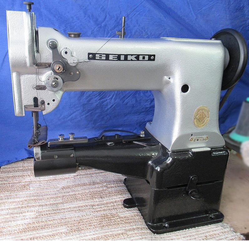 【中古】 セイコー横筒型1本針総合送りミシン  モデルNO-CW-8型頭部のみ。