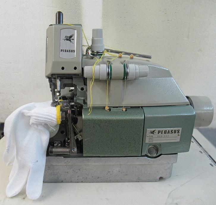 【中古】DCR-942型、軍手の手首縫製専用ミシン 1本針3本糸オーバーロックミシン 弊社で整備済み、新品と同じく6か月の保証付き 頭部のみ。。 頭部のみ。, パルガントン 公式:c74babab --- sunward.msk.ru