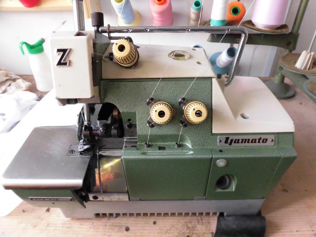 【中古】YAMATO ヤマト ヤマトミシン 改良メロー縫い 1本針3本糸ミシン モデルNO- DCZ-216型 頭部のみ。