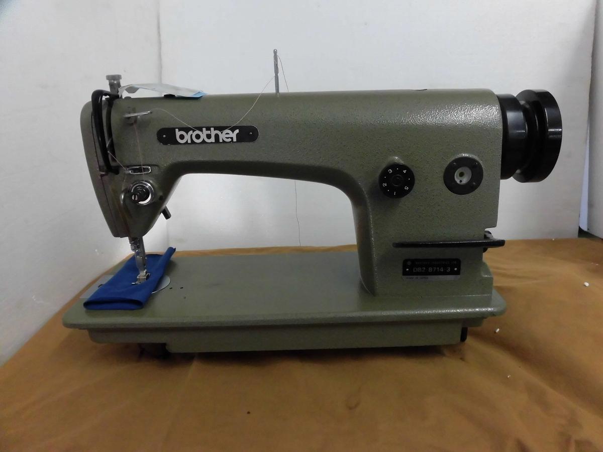 【中古】 ブラザー BROTHER 1本針本縫いミシン モデルNO-DB2-B714-3型 頭部のみ 弊社にて整備済み新品と同じく6か月の保障付きです。 テーブル・脚・モーターは別お見積りとなります。