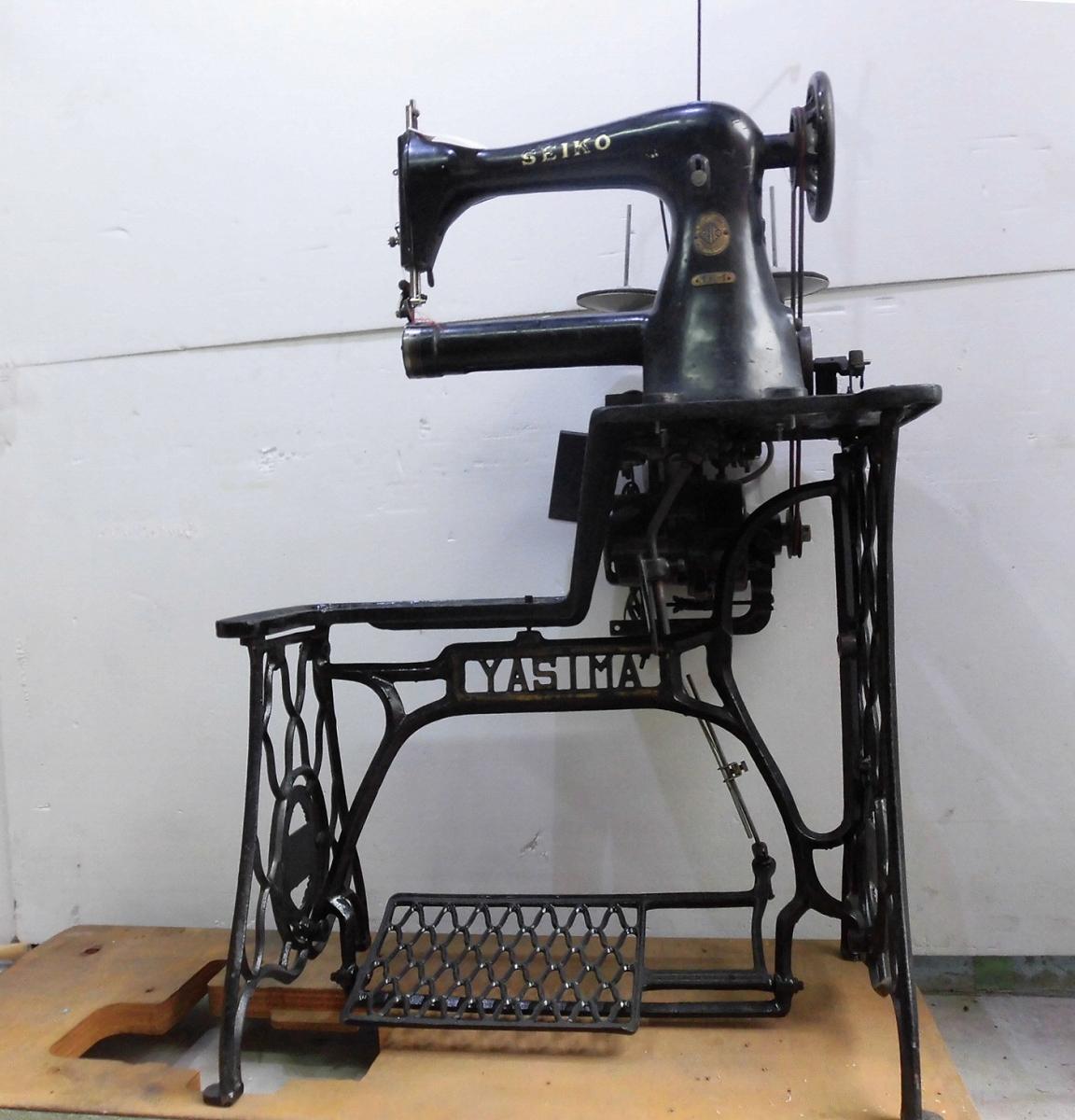 【中古】 セイコー 筒型ミシン 日本製 中古 モデルNO-TE-1型 テーブル、足、モーター付き