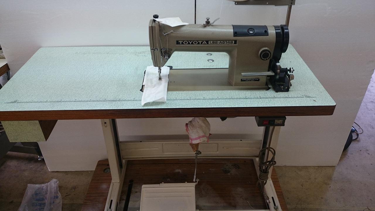 【中古】トヨタ 1本針本縫いミシン モデルNO-LS2-AD148型。頭部のみ