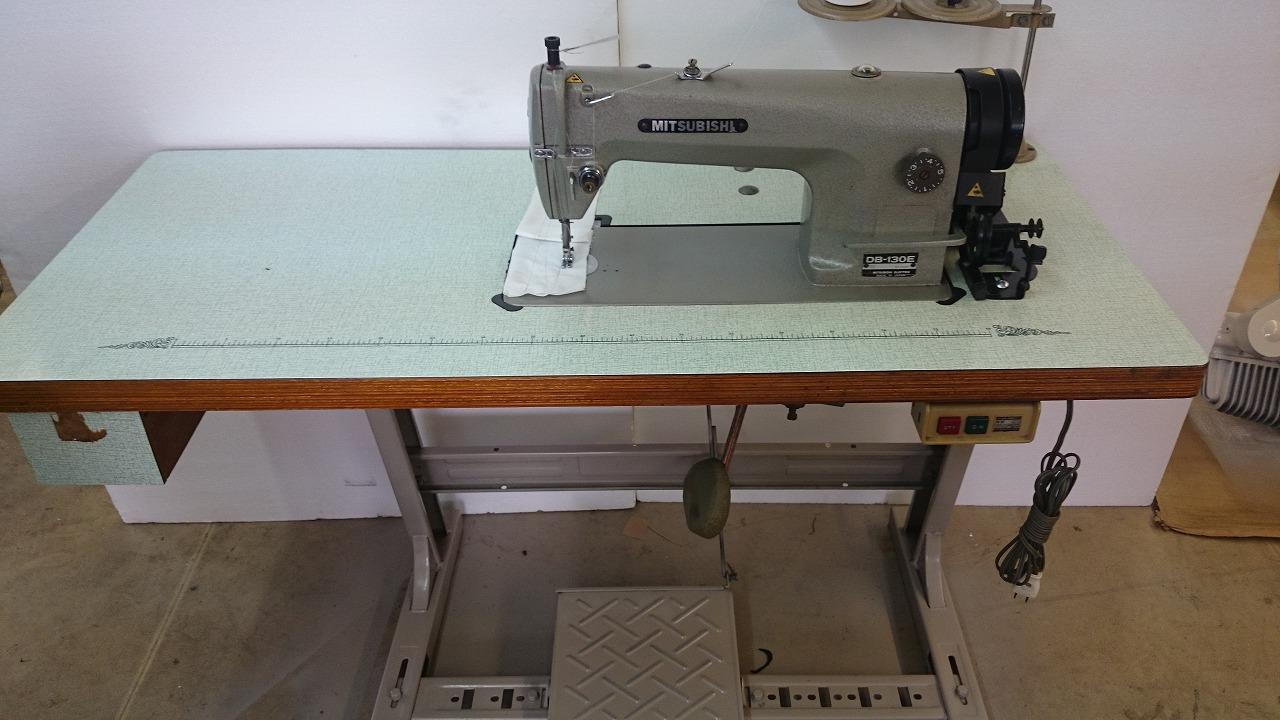 【中古】三菱 1本針本縫いミシン モデルNO-DB-130E 型。頭部のみ