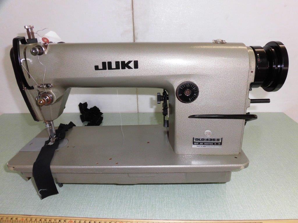 【中古】ジューキ JUKIミシン JUKI1本針本縫い差動機構付きミシン。モデルNO- DLD-436-5s型 頭部のみ。
